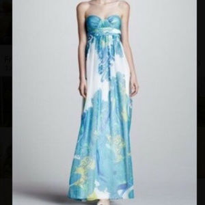 Cache XS 0 Silk Strapless Formal Gown Evening dres